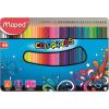 """MAPED Színes ceruza készlet, háromszögletű, fém doboz,  """"Color`Peps"""", 48 különböző szín"""