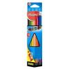 """MAPED Színes ceruza készlet, háromszögletű, hegyezővel, MAPED """"Color'Peps"""", 12 különböző szín (IMA183213)"""