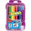 """MAPED Színes ceruza készlet, háromszögletű, kiegészítőkkel, MAPED """"Color\´Peps Smart box"""", 12 különböző szín"""