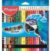 """MAPED Színes ceruza készlet, háromszögletű, MAPED \""""Color`Peps Animal\"""", 24 különböző szín [24 db]"""