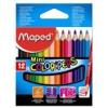"""MAPED Színes ceruza készlet, háromszögletű, MAPED \""""Color`Peps Mini\"""", 12 különböző szín [12 db]"""