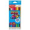 """MAPED Színes ceruza készlet, háromszögletű, MAPED """"Color'Peps Duo"""", 12 különböző szín (IMA829600)"""