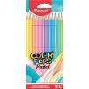 """MAPED Színes ceruza készlet, háromszögletű, MAPED """"Color'Peps Pastel"""", 12 különböző pasztell szín"""