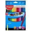 """MAPED Színes ceruza készlet, háromszögletű, MAPED """"Color'Peps"""", 18 különböző szín (IMA183218)"""