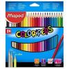 """MAPED Színes ceruza készlet, háromszögletű, MAPED """"Color'Peps"""", 24 különböző szín (IMA183224)"""
