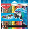 """MAPED Színes ceruza készlet, háromszögletű, MAPED """"Color\´Peps Animal"""", 24 különböző szín"""