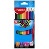 """MAPED Színes ceruza készlet, háromszögletű, MAPED """"Color\´Peps"""", 12 különböző szín"""