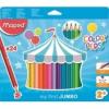 """MAPED Színes ceruza készlet, háromszögletű, vastag, MAPED \""""Jumbo\"""", 24 különböző szín [24 db]"""
