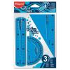 """MAPED Vonalzókészlet, műanyag, törhetetlen, 3 darabos, MAPED """"Twist`n Flex"""""""