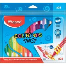 """MAPED Zsírkréta, kitekerhető, MAPED """"Color'Peps"""", 24 különböző szín kréta"""