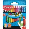 """MAPED Zsírkréta, MAPED \""""Color`Peps Wax\"""", 12 különböző szín [12 db]"""