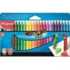 """MAPED Zsírkréta, MAPED \""""Color`Peps Wax\"""", 24 különböző szín [24 db]"""