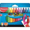 """MAPED Zsírkréta, MAPED """"Color\´Peps Maxi"""", Wax, 12 különböző szín"""