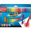 """MAPED Zsírkréta, MAPED """"Color\´Peps"""" PlastiClean, 24 különböző szín"""