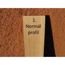 Mátra 60 cm-es tölgy kerítéselem 1. profil felületkezelve dió színre építőanyag