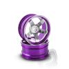 Matrixline Hliníkový disk 5 paprsků, offset 6 mm - fialová barva (2 ks)