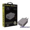 MAX MOBILE TR-275 QC 3.0 5.4A univerzális 2x USB fehér hálózati gyorstöltő
