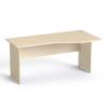 MAYAH Íróasztal, íves, jobbos,  laplábbal, 160x80 cm, MAYAH