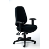 """MAYAH Irodai szék, állítható karfás, exkluzív fekete szövetborítás, fekete lábkereszt, MAYAH """"Bubble"""""""