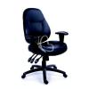 """MAYAH Irodai szék, állítható karfával, fekete bonded bőrborítás, fekete lábkereszt, MAYAH """"Champion"""""""