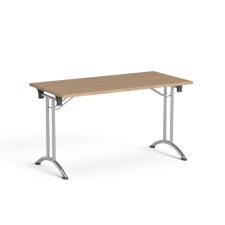 """MAYAH Összecsukható tárgyalóasztal, behajtható fémlábakkal, 130x65 cm.  """"Freedom SV-93"""", kőris bútor"""