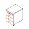 Megrendeléstől számított kb. 2 hét 85-1C/3F-FÉ fémfiókos konténer (Ceruzatartós, 3 fiókos konténer központi zárral)