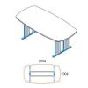 Megrendeléstől számított kb. 2 hét TSZ-200/100-AVA tárgyalóasztal (200 x 100 cm-es tárgyalóasztal AVA fémlábbal)