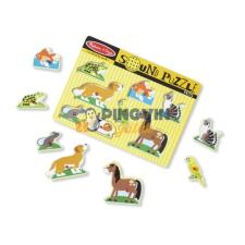 Melissa & Doug Melissa & Doug: Hangos Puzzle, Háziállatok puzzle, kirakós