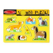 Melissa and Doug: hangos puzzle - háziállatok puzzle, kirakós
