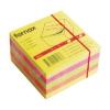 Memoris Öntapadós jegyzettömb 75x75 450l sárga