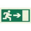 Menekülési útirányt jelző tábla - jobbra