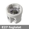 Mentavill E27 kerámia foglalat 230V - ráépíthető