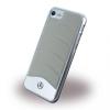 Mercedes-Benz iPhone 7 WAVE III Genuine Leather & Brushed Aluminium Hard bőr hátlap, tok, ezüst