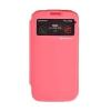 Mercury Goospery Mercury Easy View Samsung G900F Galaxy S5 ablakos kinyitható tok pink
