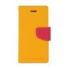 Mercury Goospery Mercury Fancy Diary Samsung N910 Galaxy Note 4 kinyitható tok sárga-sötétpink