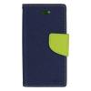 Mercury Goospery Mercury Fancy Diary Samsung N920 Galaxy Note 5 kinyitható tok sötétkék-lime