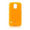 Mercury Goospery Mercury Jelly Samsung G900F Galaxy S5 fluoreszkáló hátlapvédő narancssárga