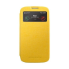 Mercury Goospery Mercury Viva Window Samsung I9500 / I9505 Galaxy S4 oldalra nyitható ablakos tok sárga
