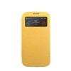 Mercury Goospery Mercury Wow Bumper Apple iPhone 5G/5S/5SE ablakos kinyitható tok sárga