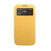 Mercury Goospery Mercury Wow Bumper Samsung A500F Galaxy A5 ablakos kinyitható tok sárga