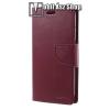 Mercury notesz / mappa tok - BORDÓ - oldalra nyíló flip cover, mágneses záródás, asztali tartó funkció, bankkártyatartó zseb, szilikon belsõ - APPLE iPhone X - GYÁRI