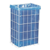 MERIDA Block higiéniai dróthálós szemetes kosár, 47 l térfogat