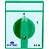 Metop beépíthető ipari kézikapcsoló 3 pólus 10A kétállásu 0-1