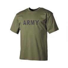 MFH feliratos póló, minta olívzöld, 160g/m2