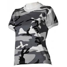 MFH női trikó álcázó metro urban minta, 160g/m2