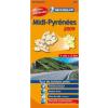 Midi-Pyrenees térkép - Michelin 525