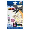 """MILAN Filctoll készlet MILAN 6310, 10 db-os - 20 különböző szín, kétvégű """"Bicolour"""" filctoll, 5 mm-es hegy, hengeres test"""