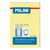MILAN Öntapadó jegyzettömb MILAN, 50x76 mm, 100 lapos, sárga színű