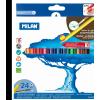 MILAN Színesceruza készlet MILAN Aqua 431, 24 különböző szín, háromszög test, vékony bél, festhető