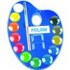 MILAN Vízfesték12-es 53412 ecsettel keverőpalettás+1db ecset 25mm MILAN
